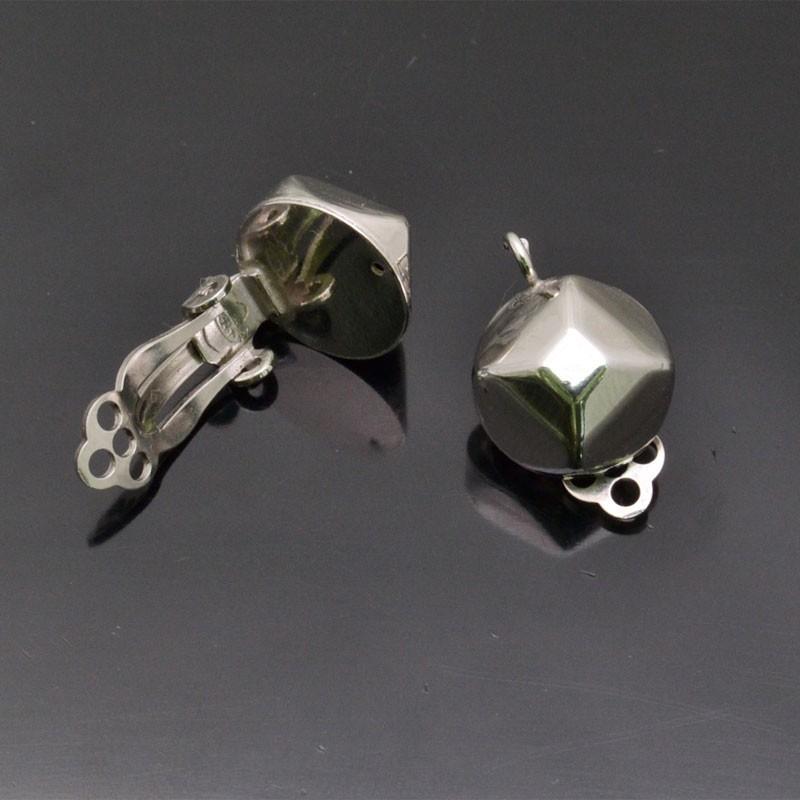 Orecchini a clip 12x18 mm in argento 925% 1 Paio