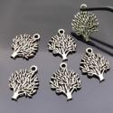 ciondoli Alberi della vita 16x20mm in metallo colore argento 6 pz