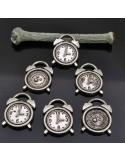 PENDENTE orologi Ciondoli Orologi 14x18 mm 6 Pz per bigiotteria