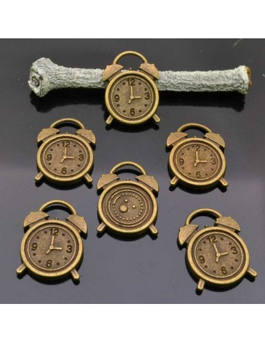 PENDENTE orologi Ciondoli Orologi bronzo 14x18 mm 6 Pz per bigiotteria