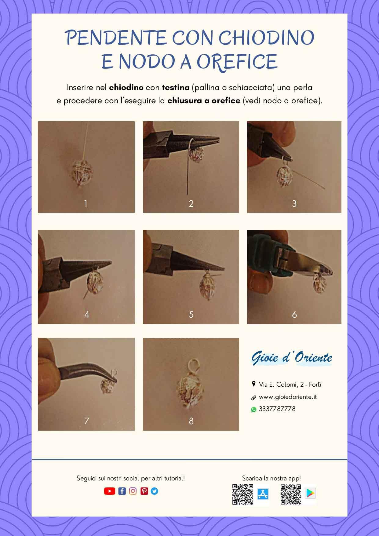 crea il tuo Pendente con chiodino e nodo a orefice con questo tutorial